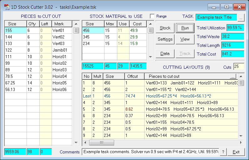 1D Stock Cutter - Linear material cutting optimization / length